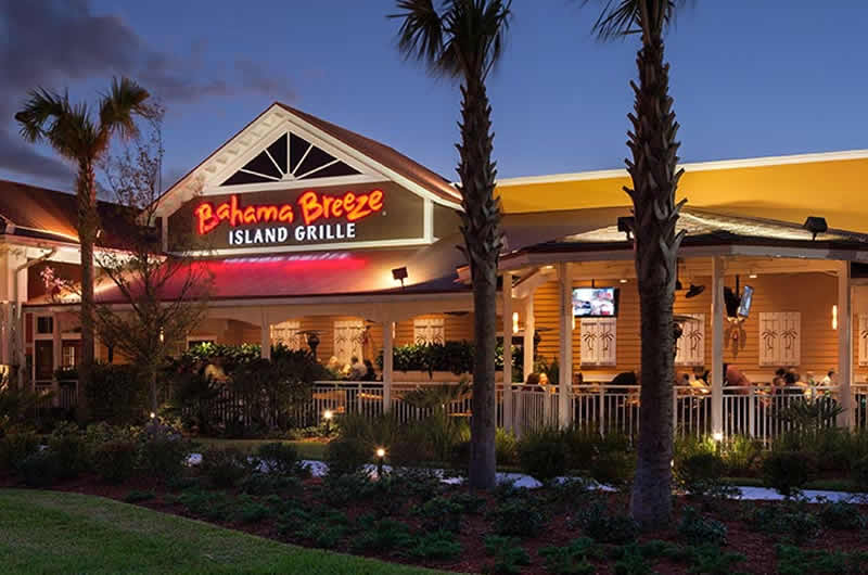 Bahama Breeze Near Disney World Orlando 800 327 1390